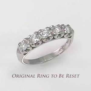 Original ring to be reset