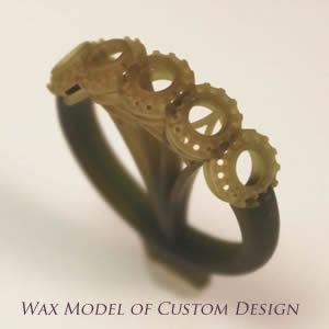 Wax model of custom design